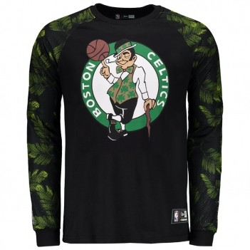 Camiseta New Era NBA Boston Celtics Manga Longa