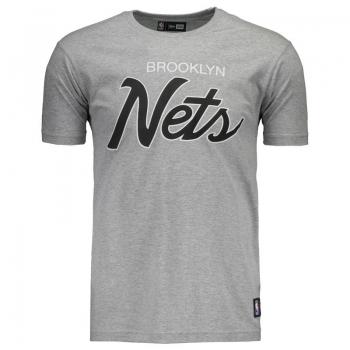 Camiseta New Era NBA Brooklyn Nets Retrô Cinza