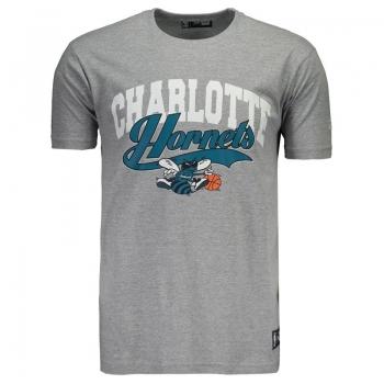Camiseta New Era NBA Charlotte Hornets Cinza