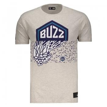 Camiseta New Era NBA Charlotte Hornets Cinza Mescla