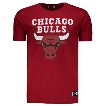 Camiseta New Era NBA Chicago Bulls Vermelha