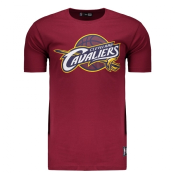 Camiseta New Era NBA Cleveland Cavaliers Logo Vinho