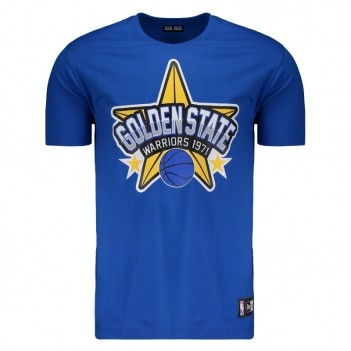 Camiseta New Era NBA Golden State Warriors Azul