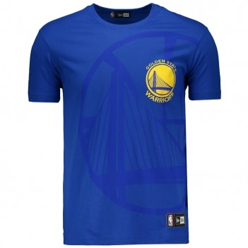 Camiseta New Era NBA Golden State Warriors Logo Azul