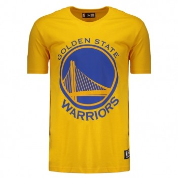 Camiseta New Era NBA Golden State Warriors Amarela
