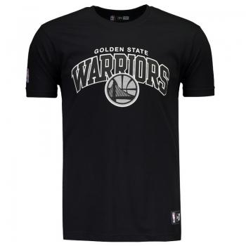 Camiseta New Era NBA Golden State Warriors Preta