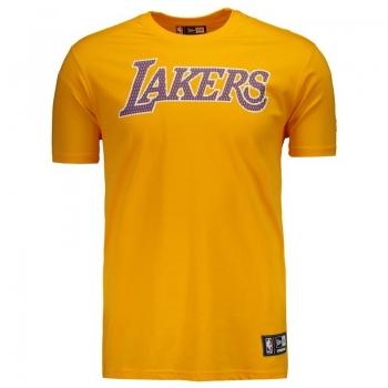 Camiseta New Era NBA Los Angeles Lakers Amarela
