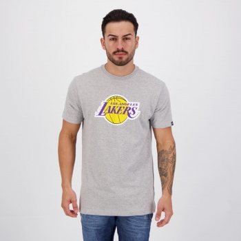 Camiseta New Era NBA Los Angeles Lakers II Cinza Mescla