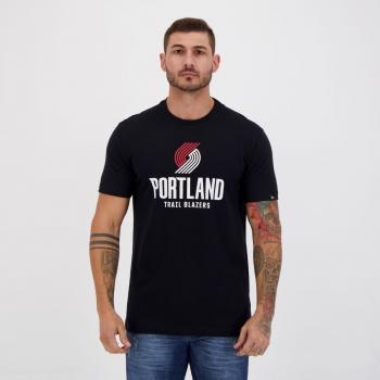 Camiseta New Era NBA Portland Trail Blazers Preta