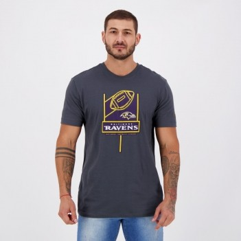 Camiseta New Era NFL Baltimore Ravens Chumbo