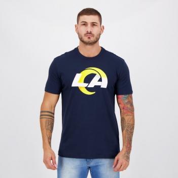 Camiseta New Era NFL Los Angeles Rams Authentic Marinho