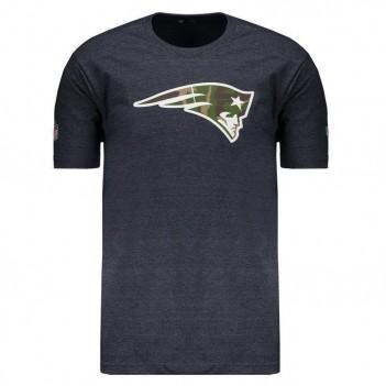 Camiseta New Era NFL New England Patriots Chumbo Mescla