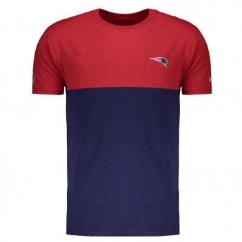 Camiseta New Era NFL New England Patriots Vermelha