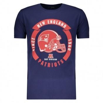 Camiseta New Era NFL New England Patriots Marinho e Vermelho