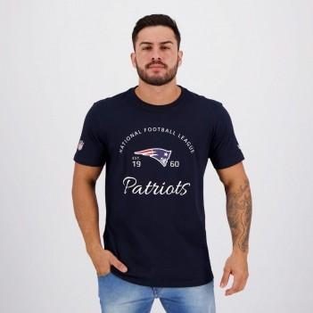Camiseta New Era NFL New England Patriots Azul Escuro