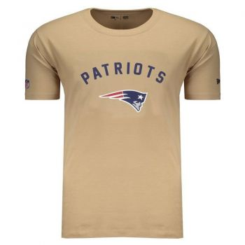 Camiseta New Era NFL New England Patriots Bege