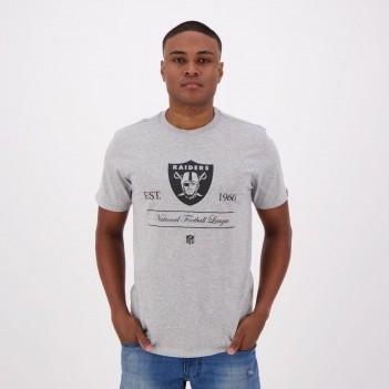 Camiseta New Era NFL Oakland Raiders 1960 Cinza