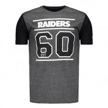 Camiseta New Era NFL Oakland Raiders Grafite Mescla
