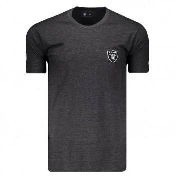 Camiseta New Era NFL Oakland Raiders Preta Mescla