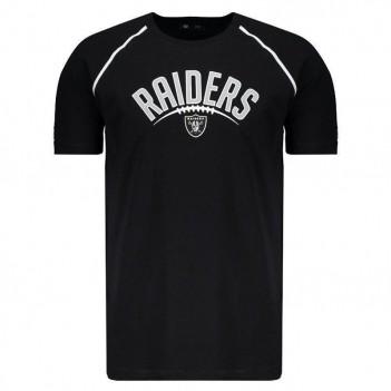 Camiseta New Era NFL Oakland Raiders Preta e Branca