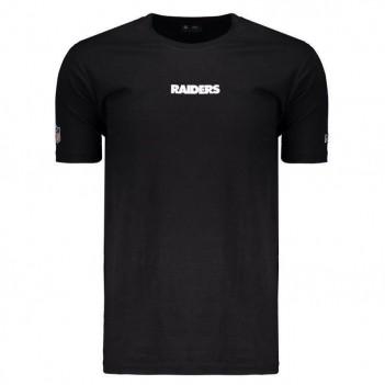 Camiseta New Era NFL Oakland Raiders Logo Preta