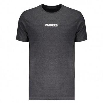 Camiseta New Era NFL Oakland Raiders Chumbo Mescla