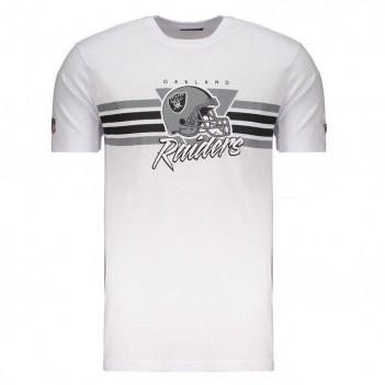 Camiseta New Era NFL Oakland Raiders Branca e Cinza