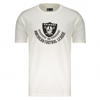 Camiseta New Era NFL Oakland Raiders Off White