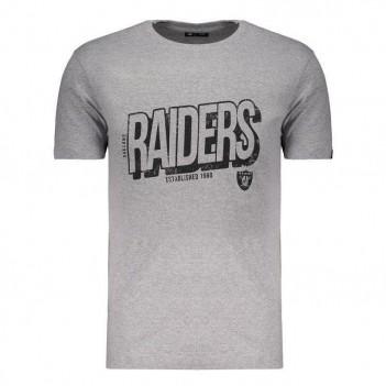 Camiseta New Era NFL Oakland Raiders Cinza  e Preto