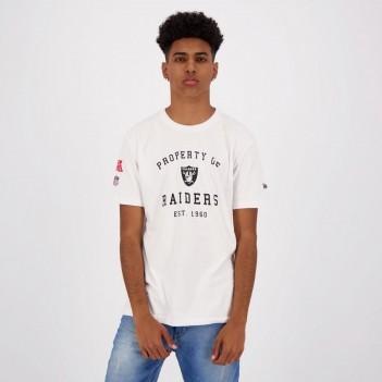 Camiseta New Era NFL Oakland Raiders Essential Branca