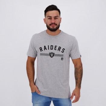 Camiseta New Era NFL Oakland Raiders Estampada Cinza