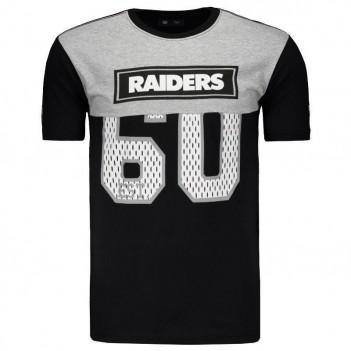 Camiseta New Era NFL Oakland Raiders Preta e Mescla