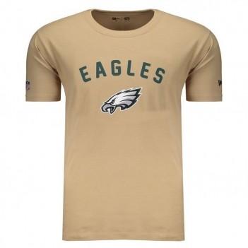 Camiseta New Era NFL Philadelphia Eagles Bege