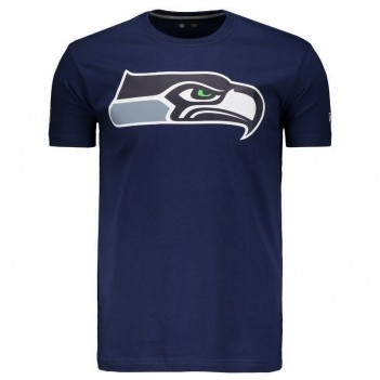 Camiseta New Era NFL Seattle Seahawks Marinho e Cinza