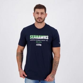 Camiseta New Era NFL Seattle Seahawks Twocolors Marinho