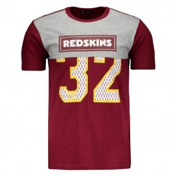 Camiseta New Era NFL Washington Redskins 32 Bordô