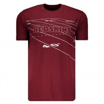 Camiseta New Era NFL Washington Redskins Bordô e Branca