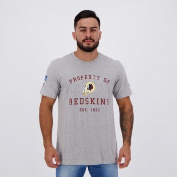 Camiseta New Era NFL Washington Redskins Logo Cinza
