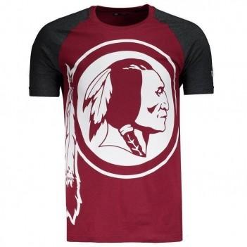 Camiseta New Era NFL Washington Redskins Raglan Bordô