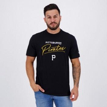 Camiseta New Era Pittsburgh Pirates Preta