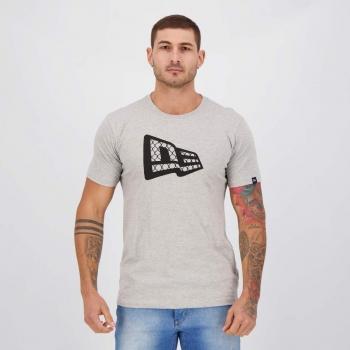 Camiseta New Era Wire Cinza Mescla