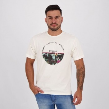 Camiseta O'Neill Flower Circle Off White