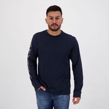Camiseta Oakley Multi Bark Manga Longa Marinho