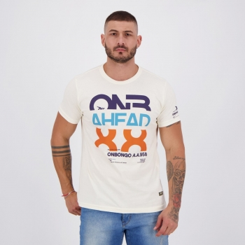 Camiseta Onbongo Estampada 88 Bege