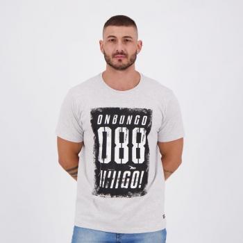 Camiseta Onbongo Estampada 88 Cinza Mescla