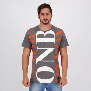 Camiseta Onbongo Full Pattern Grafite Mescla