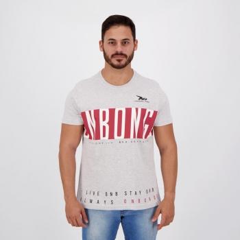 Camiseta Onbongo Modern Print Cinza Mescla