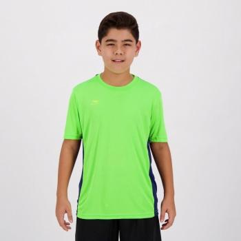 Camiseta Penalty Storm VII UV Juvenil Verde e Marinho