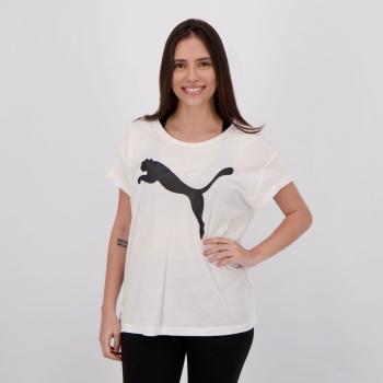 Camiseta Puma Active Feminina Branca e Preta