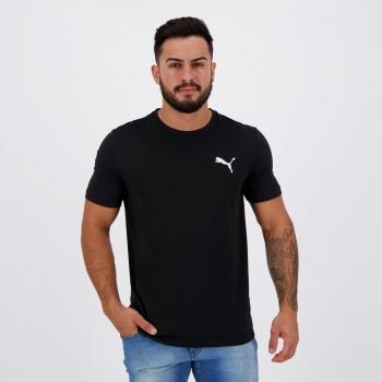 Camiseta Puma Active Logo Preta e Branca